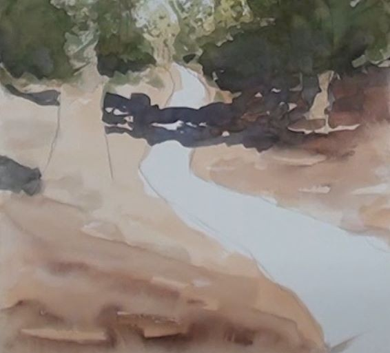 painting tree shadows