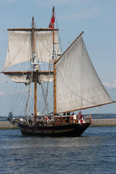 paint sailing ship - reference photo