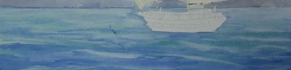 paint sailing ship - adding waves to the sea