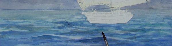 paint sailing ship - darken the wave contrasts