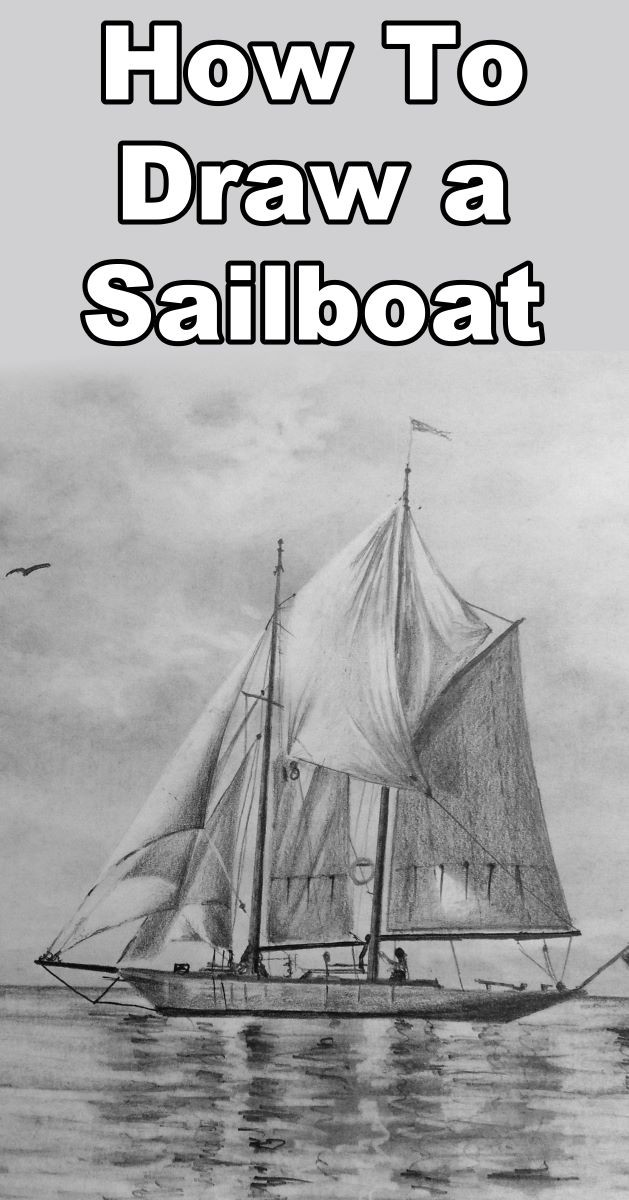 Learn how to draw a sailboat with this pencil drawing tutorial by Online Art Lessons