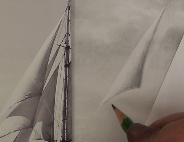 Sail with smooth shadings - how to draw a sailboat