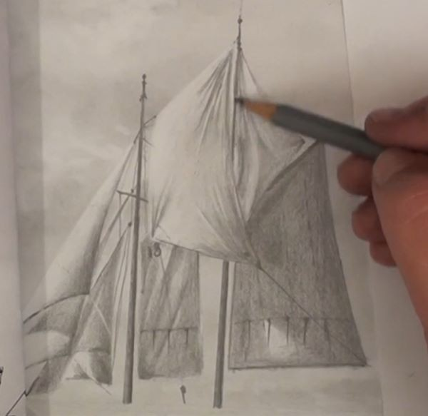 Draw the masts - how to draw a sailboat