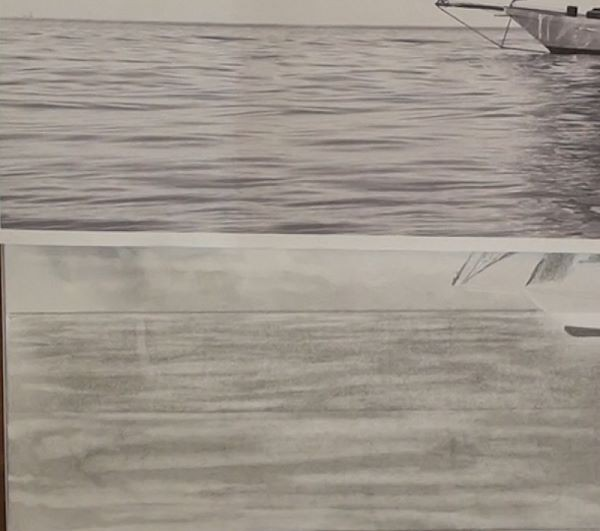 Draw the ripples on the water - how to draw a sailboat