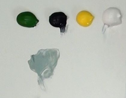 neutral grey paint mixture - how to paint berries in acrylic