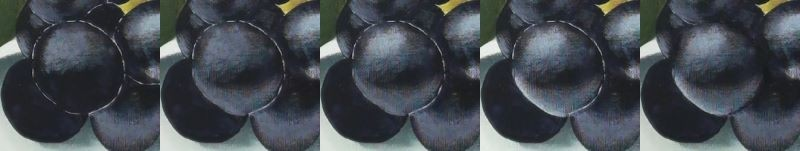 showing various layers of berry reflections being painted - how to paint berries in acrylic